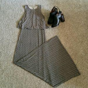 LOFT geometric maxi dress